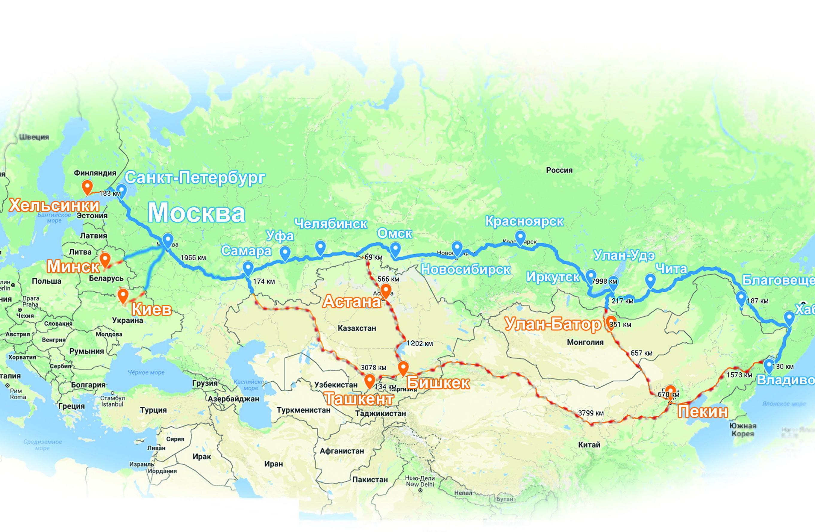 карта ЕАКС